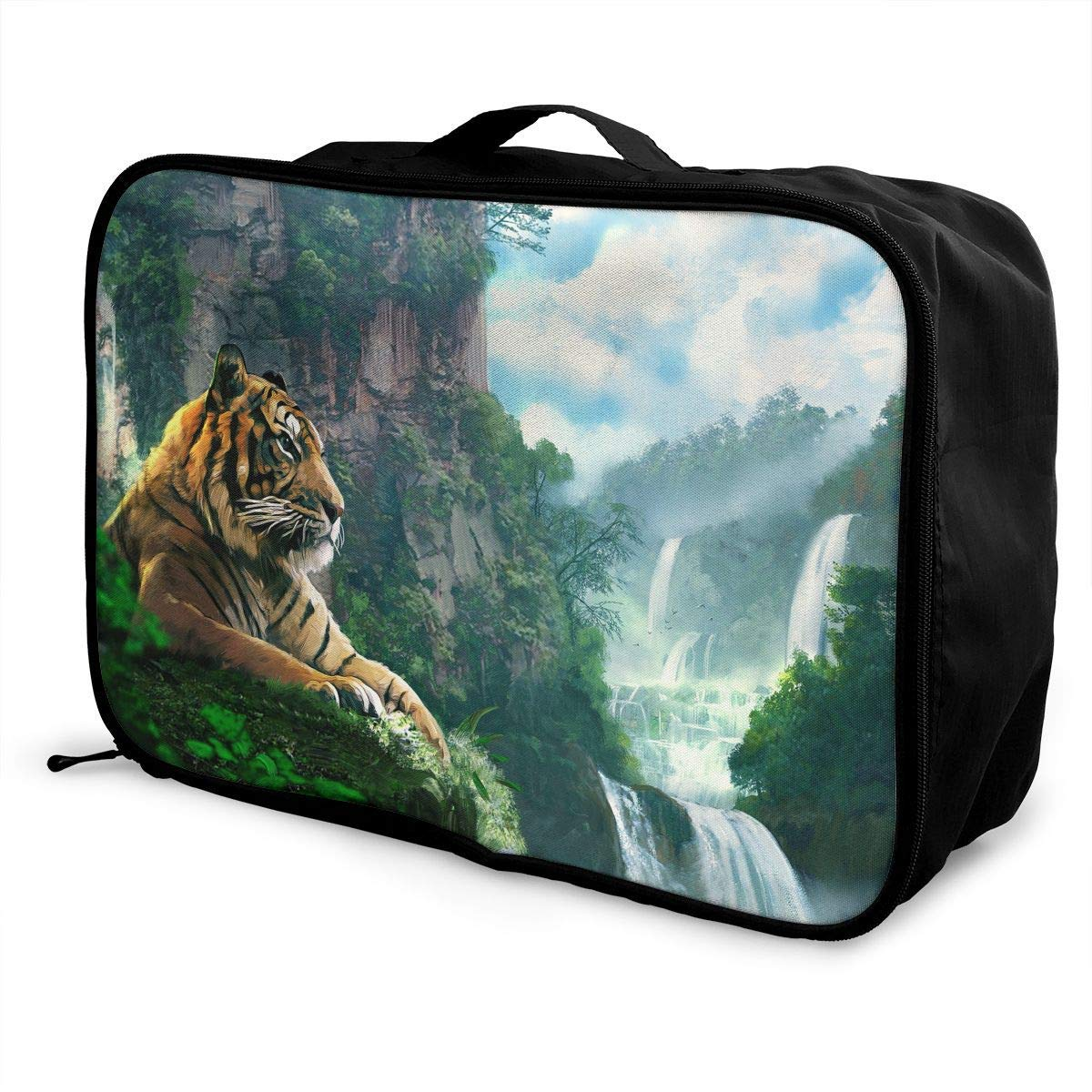 JTRVW Luggage Bags for Travel Lightweight Large Capacity Portable Duffel Bag for Men /& Women Mountain Tiger Painting Travel Duffel Bag Backpack