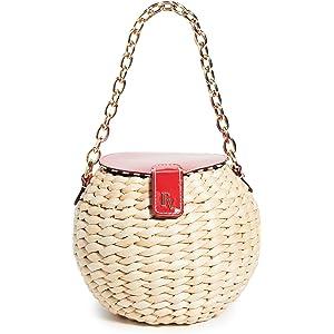 883e9c1f7 Amazon.com: Frances Valentine Women's Betsy Wicker Crossbody Bag ...
