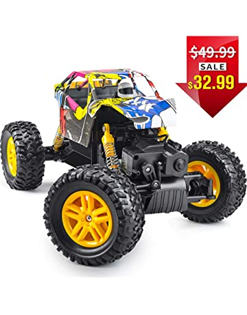 DOUBLE E RC Cars 1: 18 Dual Motors Rechargeable Remote Control Truck 4WD Off Road