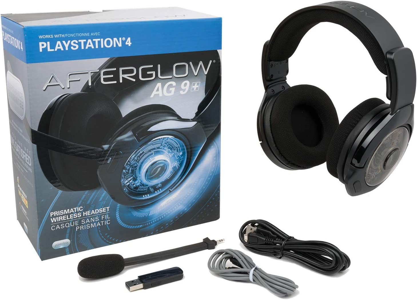 51565c86a18 Amazon.com: PDP Afterglow AG 9+ Prismatic True Wireless Headset for  PlayStation 4 - White: Video Games