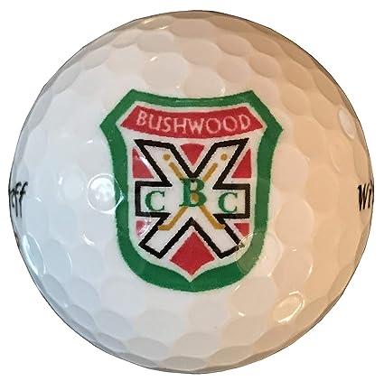 Amazon.com: Blanco BushWood Country Club Logo pelotas de ...