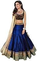 Maxthon Fashion Women's Benglory Silk Lehenga Choli (Max lehengha 4062) (Blue) (Free Size)