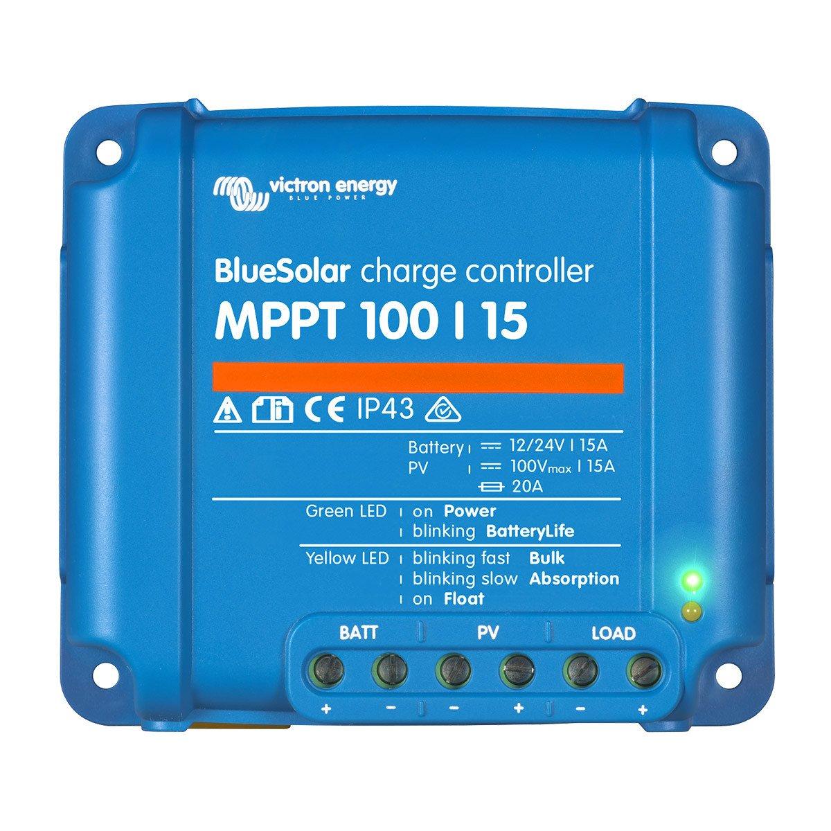 MPPT Solar Charge controller 12V/24V Victron Energy 100/15 8719076025337