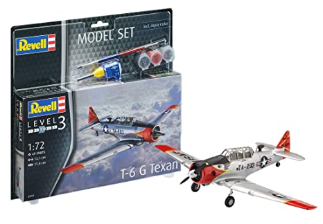 revell colla  Revell 63924 - Model Set t-6 g Texan, con colori, colla e pennelli ...
