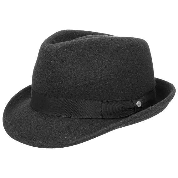 d3126185 Stetson Elkader Trilby Felt Hat Women/Men | Men´s Fedora with Grosgrain  Band Summer-Winter: Amazon.co.uk: Clothing