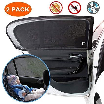 2 pare-soleil transparents et 2 pare-soleil semi-transparents pour SUV protection contre les UV pour b/éb/és animaux de compagnie fen/êtres lat/érales camionnette Pare-soleil de voiture pour enfants