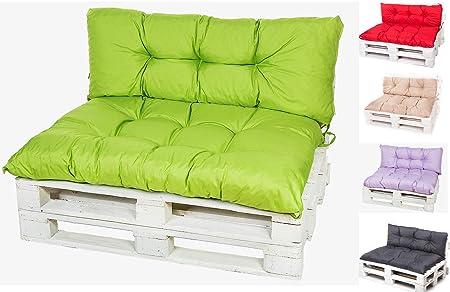 Kruger Coussins pour fauteuil de jardin en palettes euro, balancelle, banc,  mobilier de jardin (citron vert, 60 x 40 cm)