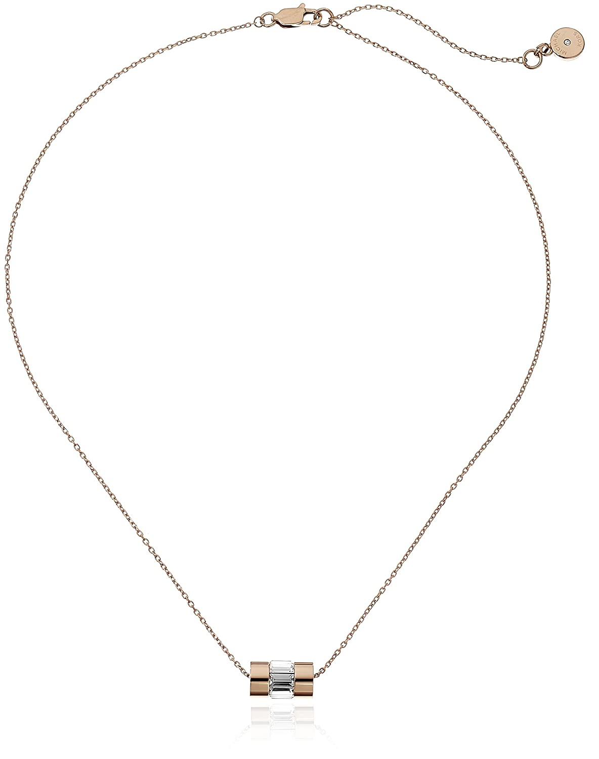 amazon com michael kors park avenue rose gold tone necklace jewelry