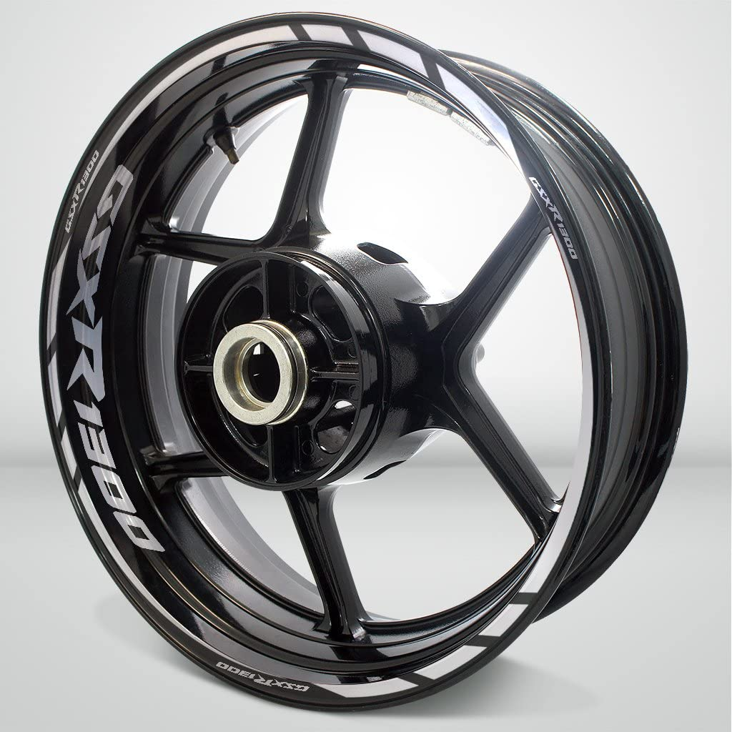 Gloss Black Motorcycle Rim Wheel Decal Accessory Sticker for Suzuki GSXR 1300 Hayabusa
