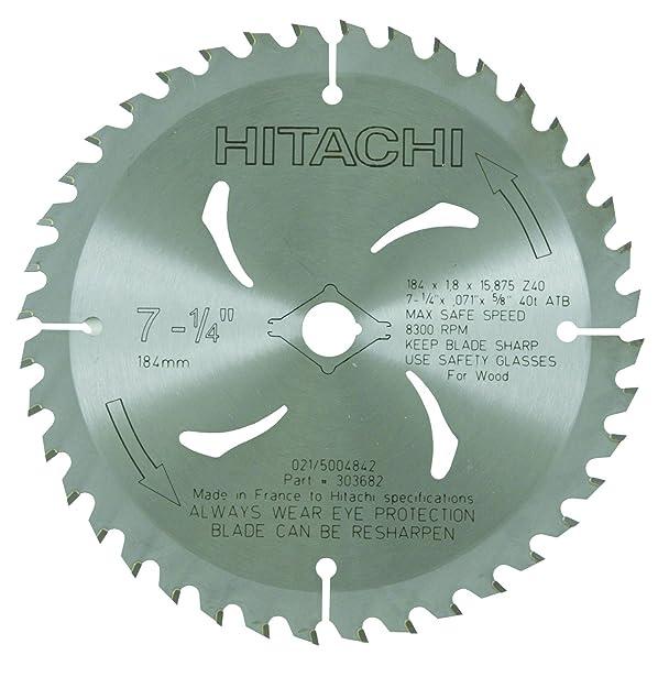 hitachi 714inch atb 58inch tungsten carbide tipped arbor finish saw blade 40teeth circular saw blades amazoncom