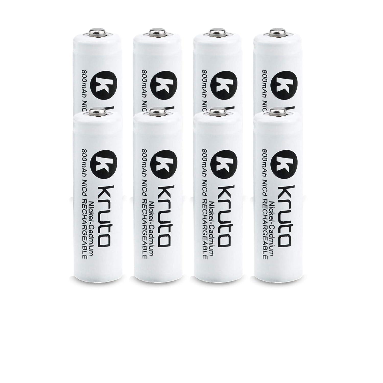 1.2V 800mAh NiCd AA Solar Rechargeable Batteries Pack for Solar Lights Solar Lamp Yard Light Kruta Rechargeable AA Batteries Remotes Garden Lights 8 Counts