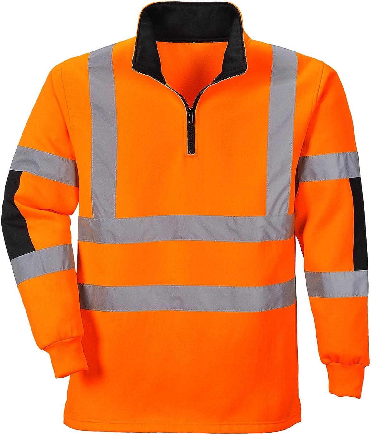 B308 Portwest Xenon Hi Vis Rugby Sweatshirt
