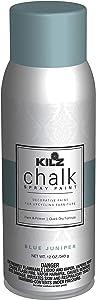 KILZ L540746 Chalk Spray Paint for Upcycling Furniture, 12 oz. Aerosol, Blue Juniper