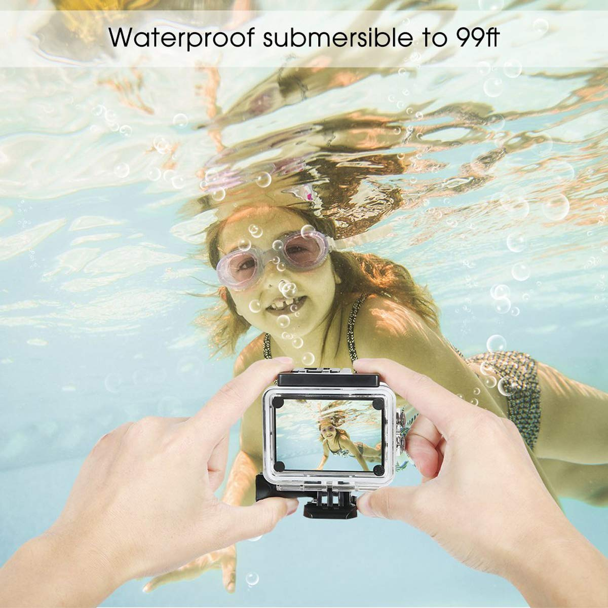 Nesolo Kids Digital Camera, Waterproof Camera for Kids Toy for Boy Girls Holiday Birthday Gift with 2.0 Inch LCD Display by Nesolo (Image #3)