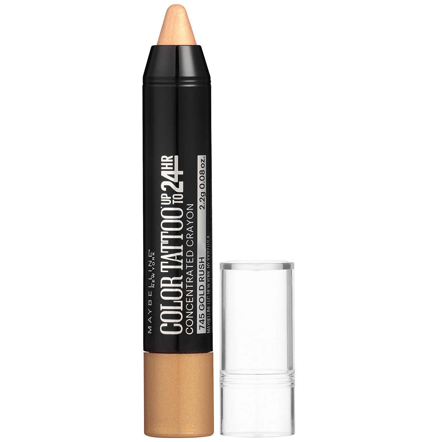 Maybelline New York Eyestudio Color Tattoo Concentrated Crayon Eye Color, Gold Rush, 0.08 Ounce