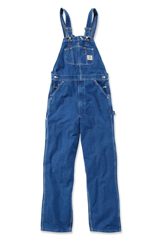 Carhartt Peto Vaquero - Azul Stone wash hombre Industriales monos ropa trabajo R07