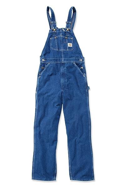 4a52113ff0 Carhartt Peto Vaquero - Azul Stone wash hombre Industriales monos ropa  trabajo R07  Amazon.es  Ropa y accesorios