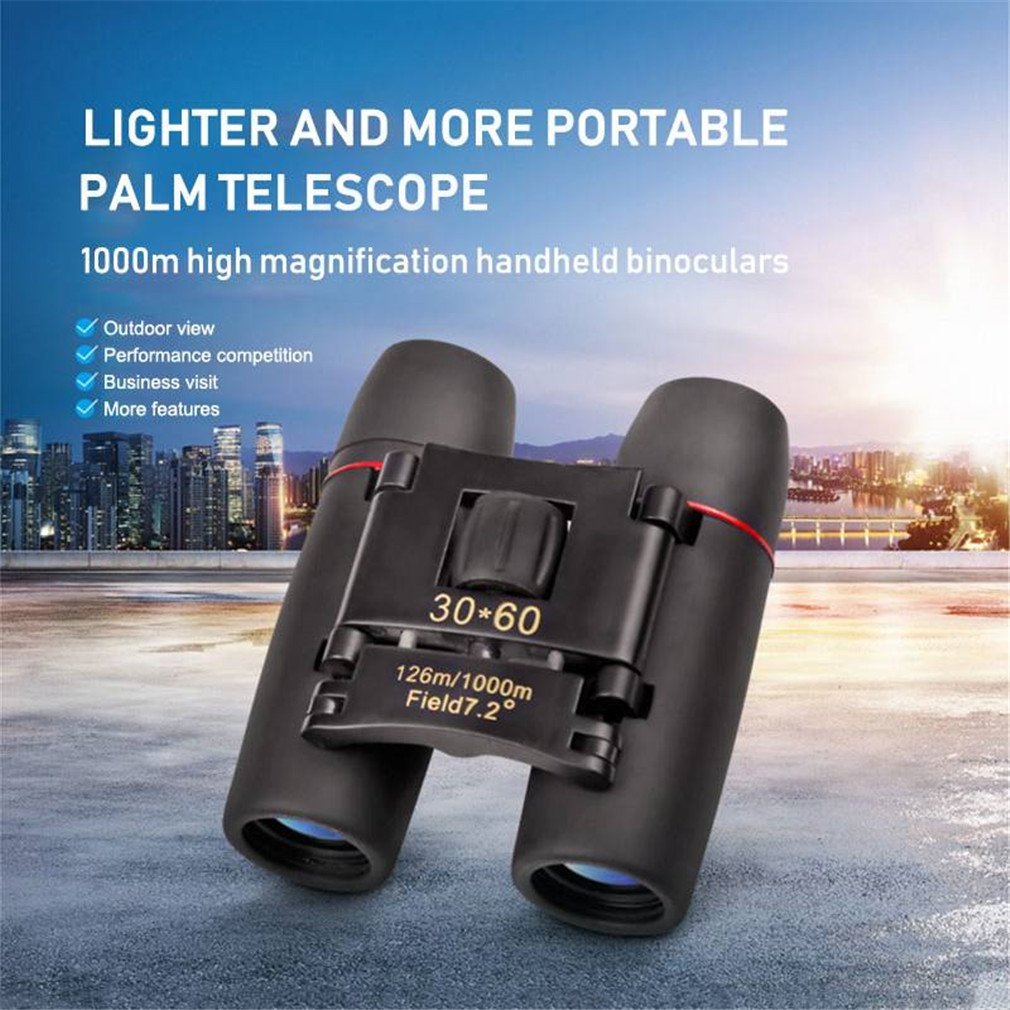 Day Night Vision Binoculars 30 x 60 Zoom Outdoor Travel Folding Telescopewith Low Light Night Vision for outdoor birding, travelling, sightseeing, hunting, etc