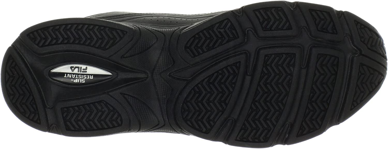 Fila Men's Memory Workshift Slip Resistant Work Shoe Black/Black/Black