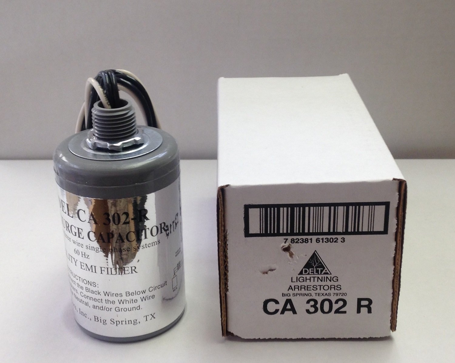 Delta CA302-R 2-Pole 125/250V Single Phase Surge Capacitor