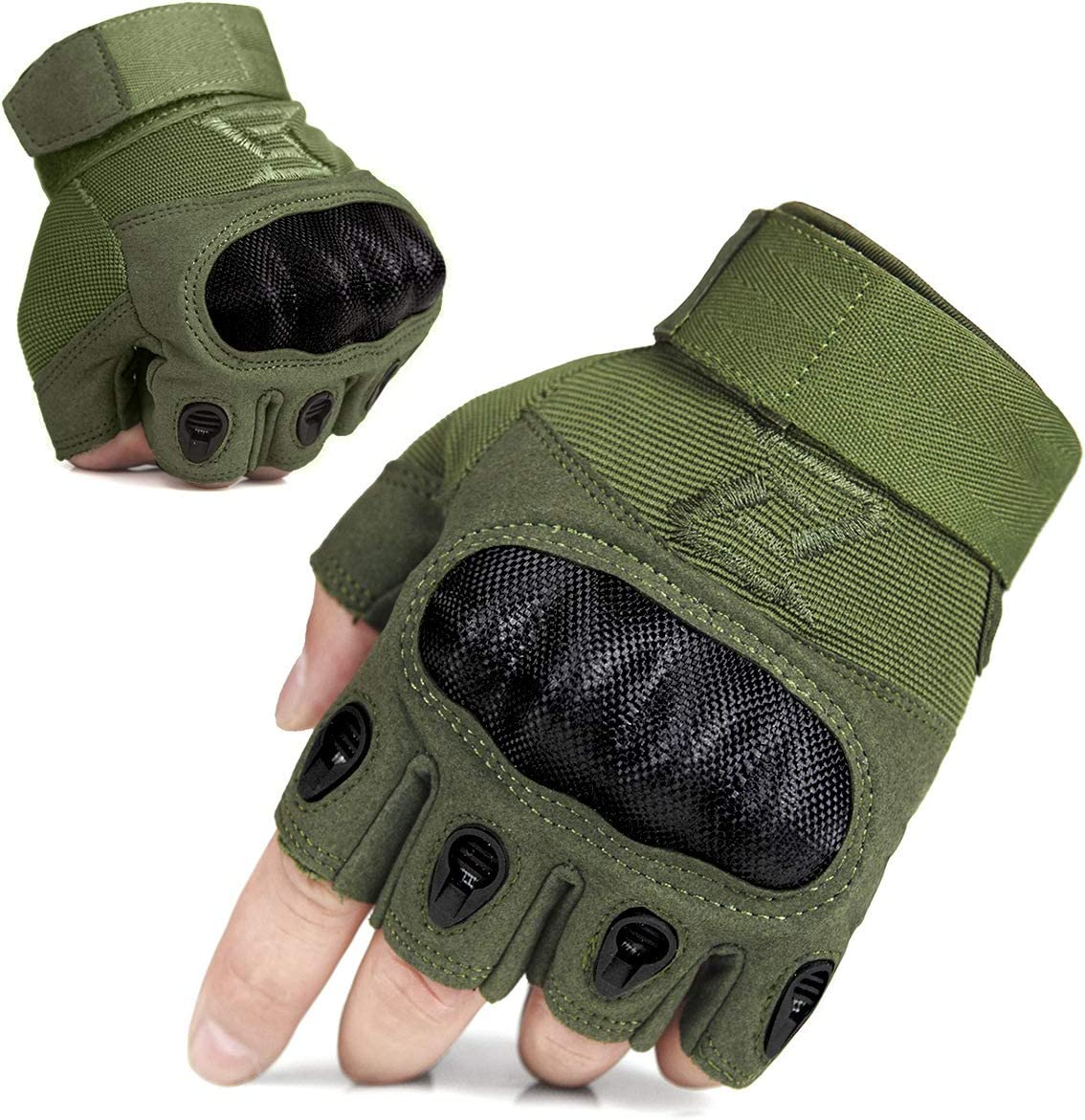 FREE SOLDIER Mens Full Finger Outdoor Sports Cycling Gloves Motorcycle Gloves Fingerless Glove for Hiking Climbing Cross Country Working Gloves