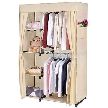 Homdox Faltbare Kleiderschrank Faltschrank Garderobenschrank ...