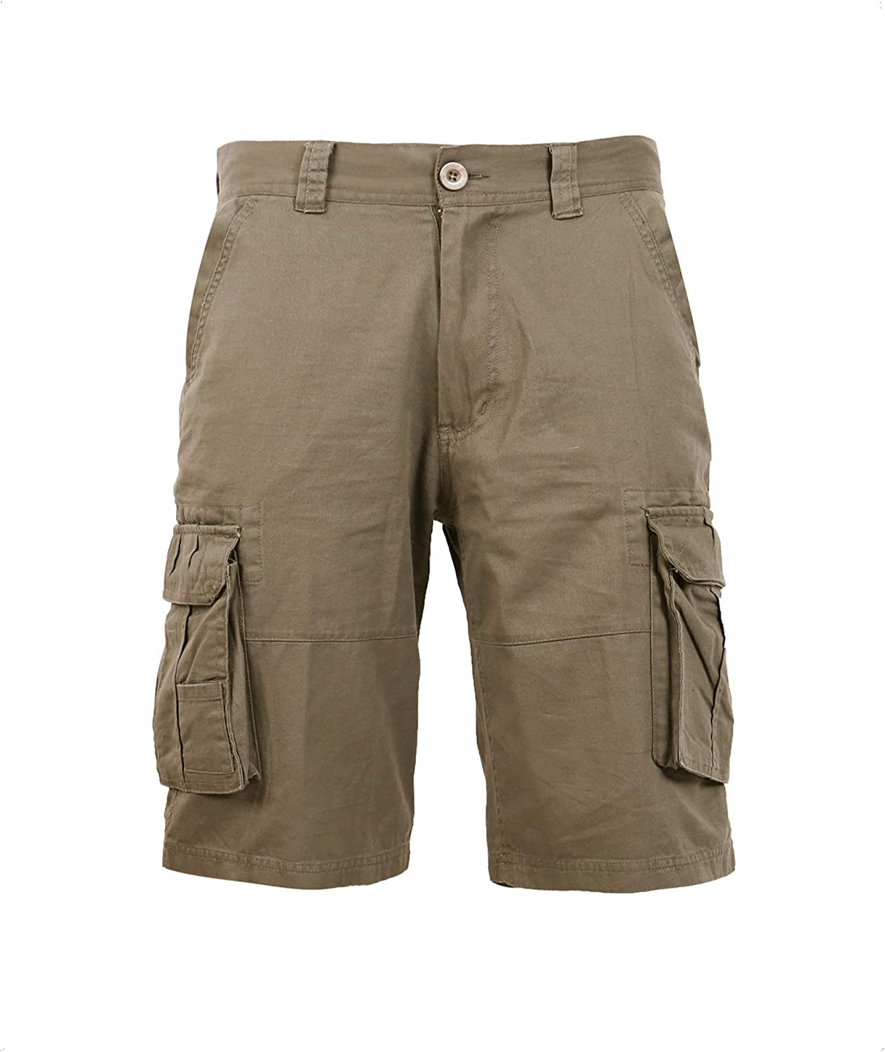 Coevals Club Men's Casual Cargo Shorts Cotton Twill Multi Pockets Outdoor Shorts