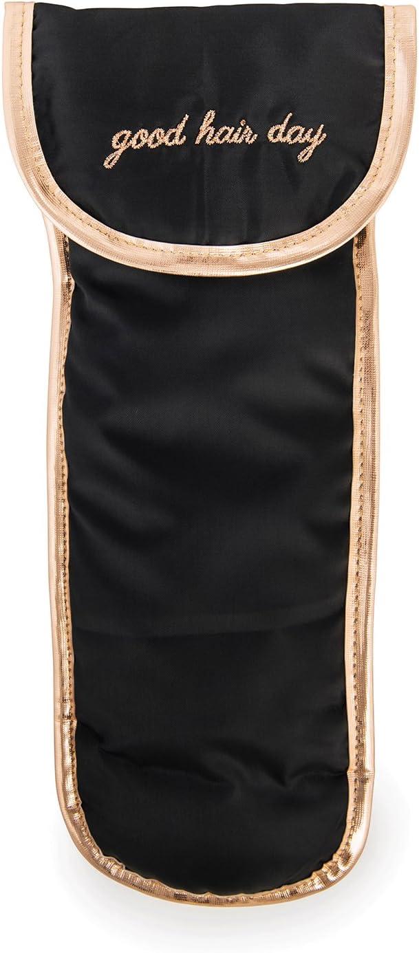 Black Miamica Hair Iron Case Heat Resistant Lining Packing Organizer
