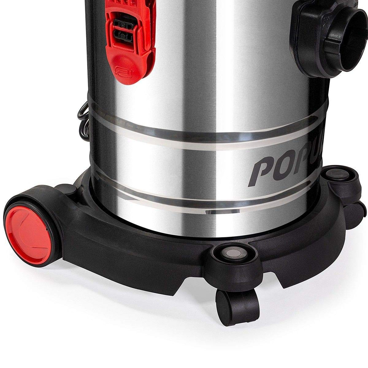 Populo 5.5 Peak HP 5 Gallon Wet and Dry Vacuum Stainless Steel Bucket 3-Functions Vacuum Dry/Wet/Blow with Wheel by populo (Image #3)