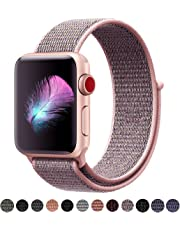 HILIMNY Compatible for Apple Watch Band 38mm 42mm, Soft Nylon Sport Loop, with Hook and Loop Fastener, Replacement Band Compatible for iWatch Series 1/2/3