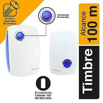 Timbre inalámbrico de Casa Nueva Digital 100M Alcance Inalámbrico Timbre De Puerta 36 campanas de Reino Unido