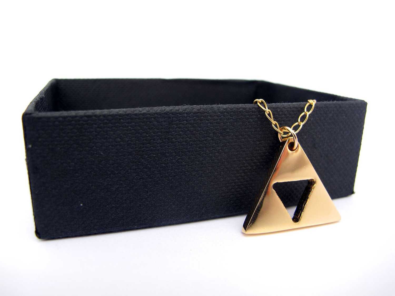 Zelda Triforce Gold Plated Shiny Necklace - Length 18'' - Handmade