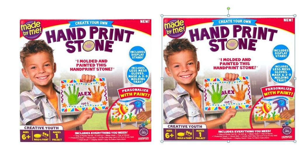 Hand Print Stone Painting Actitivity Kit x 2 Set (Display Stand Included)