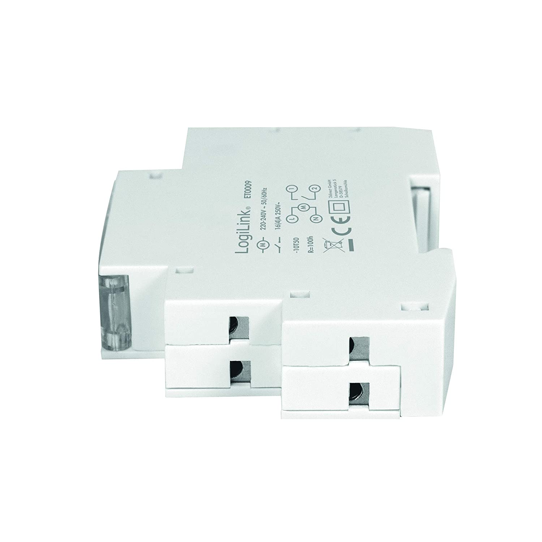 Sistemas de riego etc Calentadores de Agua LogiLink ET0009 ET0009-DIN-RAIL linternas Temporizador con Temporizador mec/ánico para Cambiar f/ácilmente por Ejemplo Luces de ne/ón protecci/ón IP20