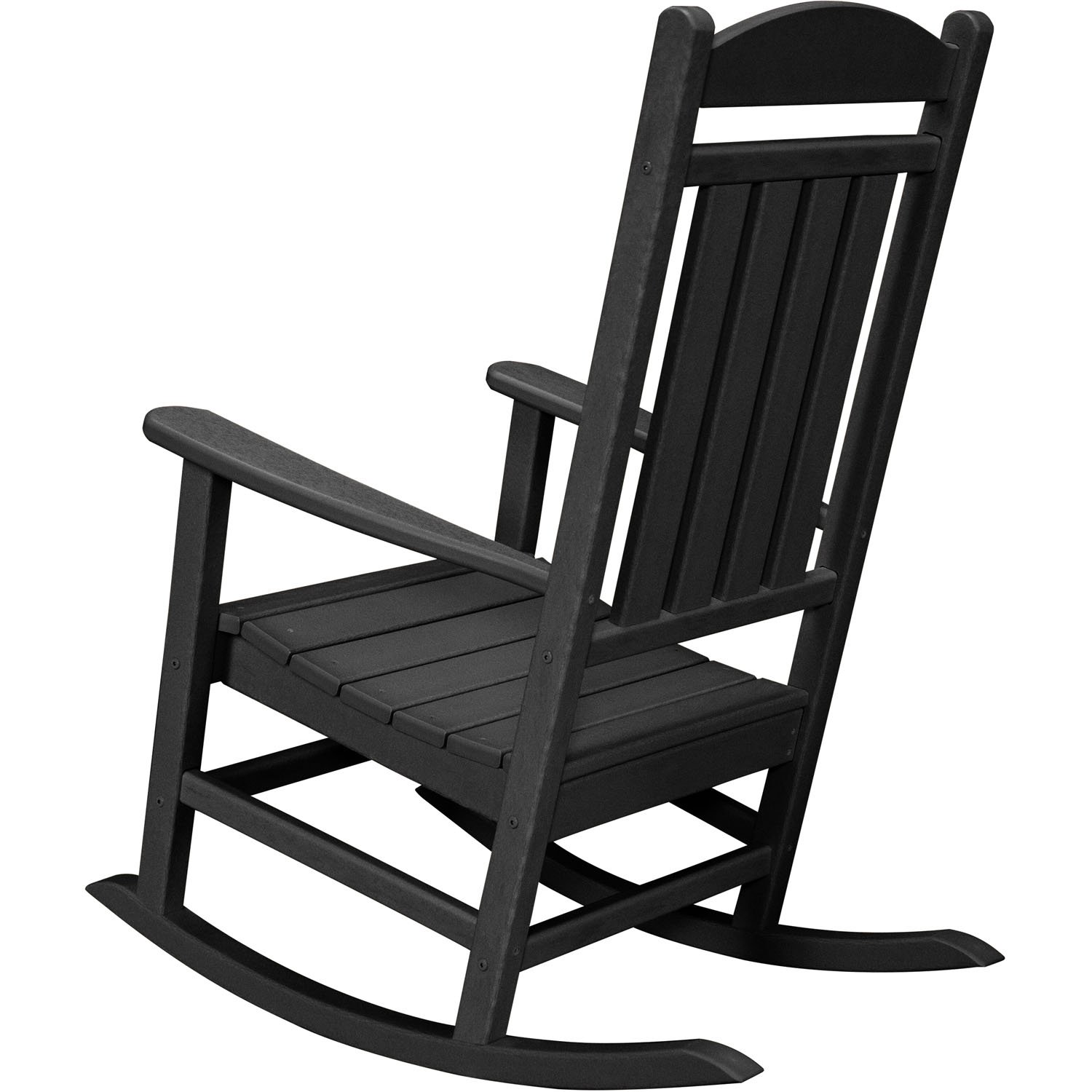 Black outdoor rocking chair - Amazon Com Hanover Outdoor Furniture Hvr100bl All Weather Pineapple Cay Porch Rocker Black Patio Lawn Garden
