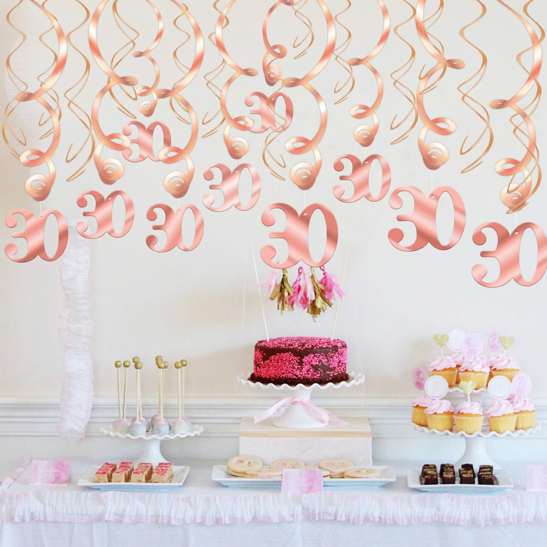 30 Compleanno Pendenti a Spirale et /étoile Happy Birthday 30 Compleanno Coriandoli di Tavolo per Festa di 30 /° Compleanno Decorazioni Howaf Oro Rosa 30 Anni Compleanno Decorazioni Donna