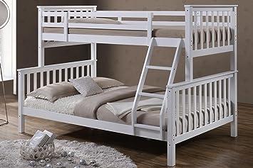 Etagenbett Unten Doppelbett : Sleep design massives kiefern etagenbett oscar einzel und