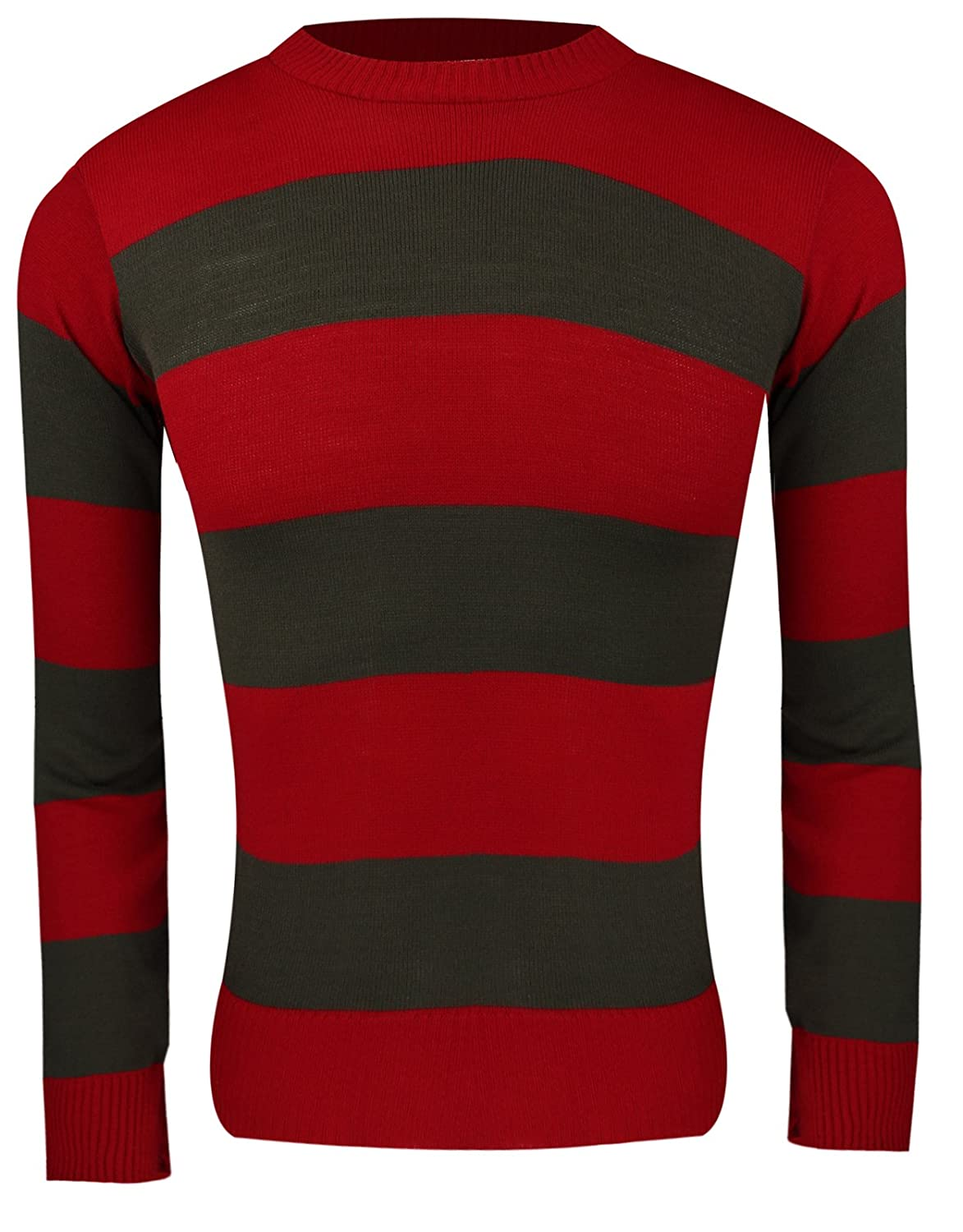 B Children Freddy Dennis RED & White Striped Knitted Jumper Sweater (Small (7-8YRS), Freddy Jumper)