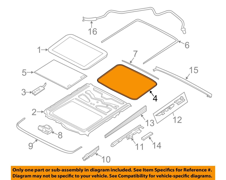 Body & Trim BMW 54-10-7-245-551 SURROUNDING SEAL Body
