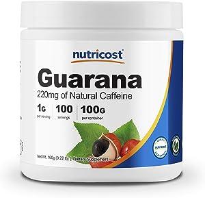 Nutricost Guarana Powder 100 Grams - Natural Herbal Brazilian Caffeine Energizer Supplement