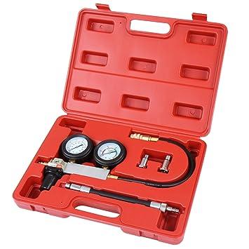 Timbertech - Medidor de présion y fugas de motor a gasolina con adaptador de bujías de