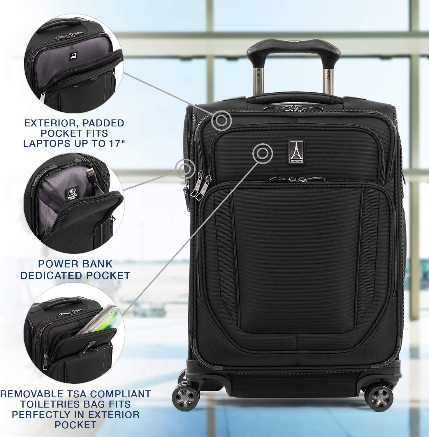 Travelpro Crew Versapack Expandable Spinner Patriot Blue
