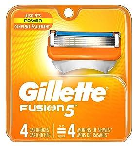 Gillette Mens Fusion 5 Cartridges 4 Count (2 Pack)