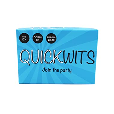 Quickwits Party Card Game -- A Fun and Social Adult Tabletop Game
