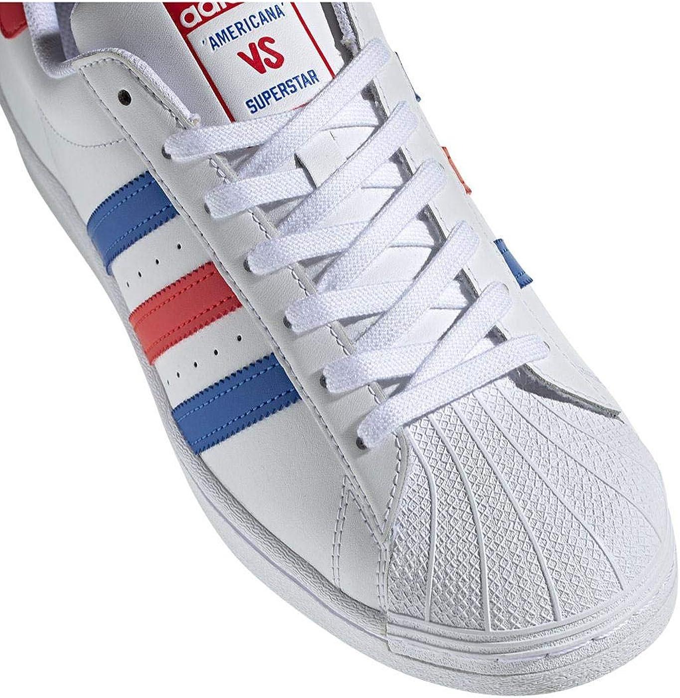 Adidas Superstar Chaussures pour Homme RougeBleu: