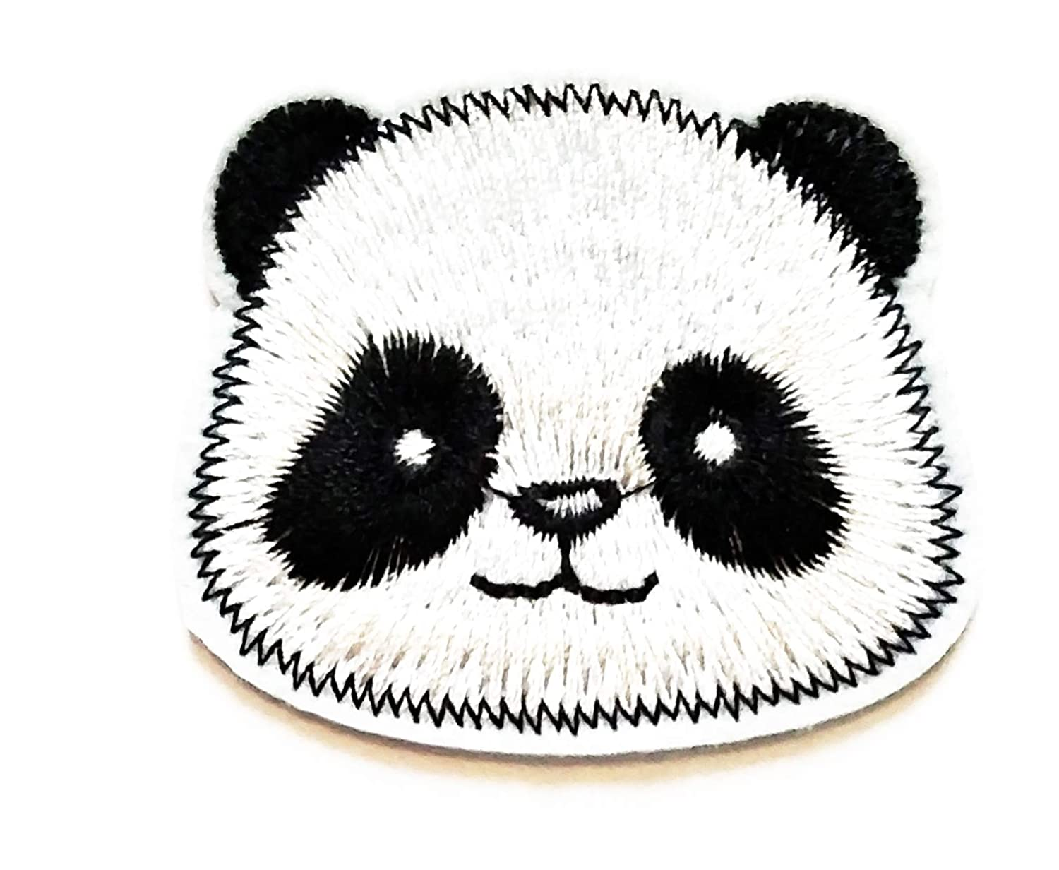 Nipitshop Patches Cute Head Chinese Panda Animal Cartoon Kids Patch Embroidered Iron On Patch for Clothes Backpacks T-Shirt Jeans Skirt Vests Scarf Hat Bag