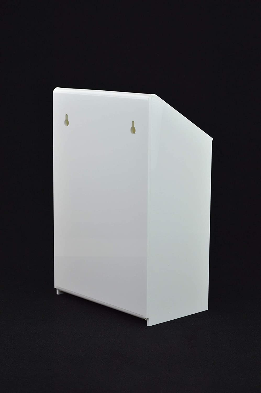 Lockable Collection Box Suggestion Box PDS9463 White White Acrylic