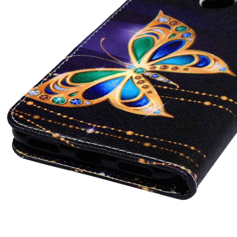 Y7 2019 Handyh/ülle Kompatible f/ür Huawei Y7 Prime 2019 H/ülle Wallet Case Cover PU Leder Tasche Malen Muster Flipcase Schutzh/ülle Handytasche Skin St/änder Klapph/ülle Schale Bumper M/ädchen-Lotusblume
