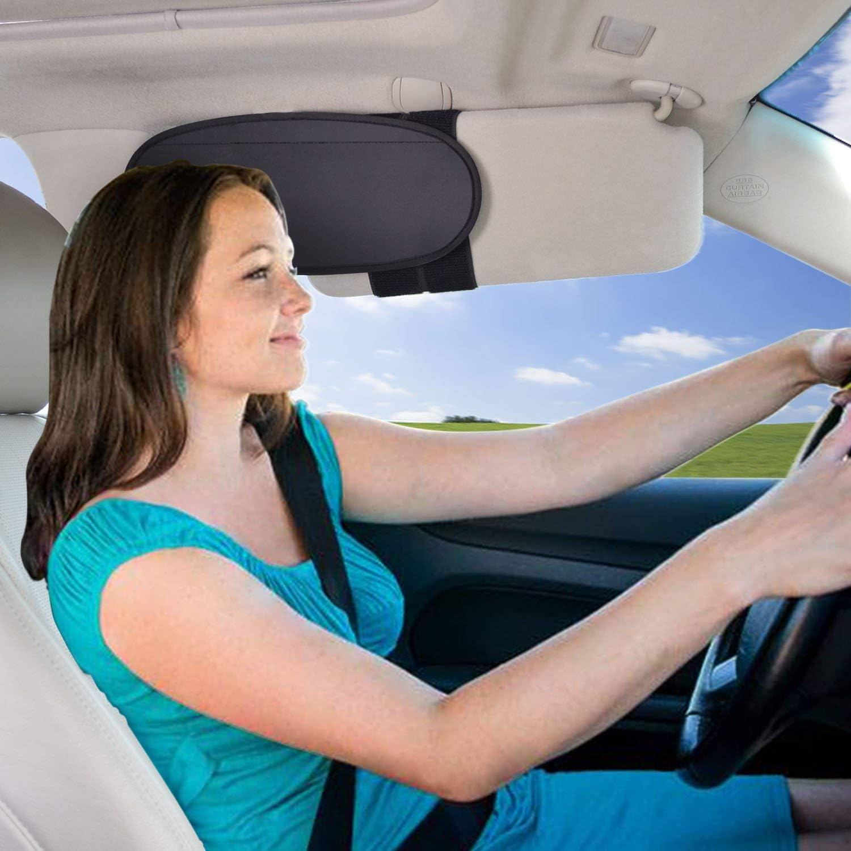 WANPOOL Anti-Glare Anti-Dazzle Vehicle Visor Sunshade Extender Sun Blocker for Cars, Vans and Trucks (Sliver)