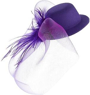 093f7f873 MagiDeal Ladies Mini Top Hat Fascinator Burlesque Millinery w ...